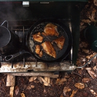 Cooking and Camping in the Rain