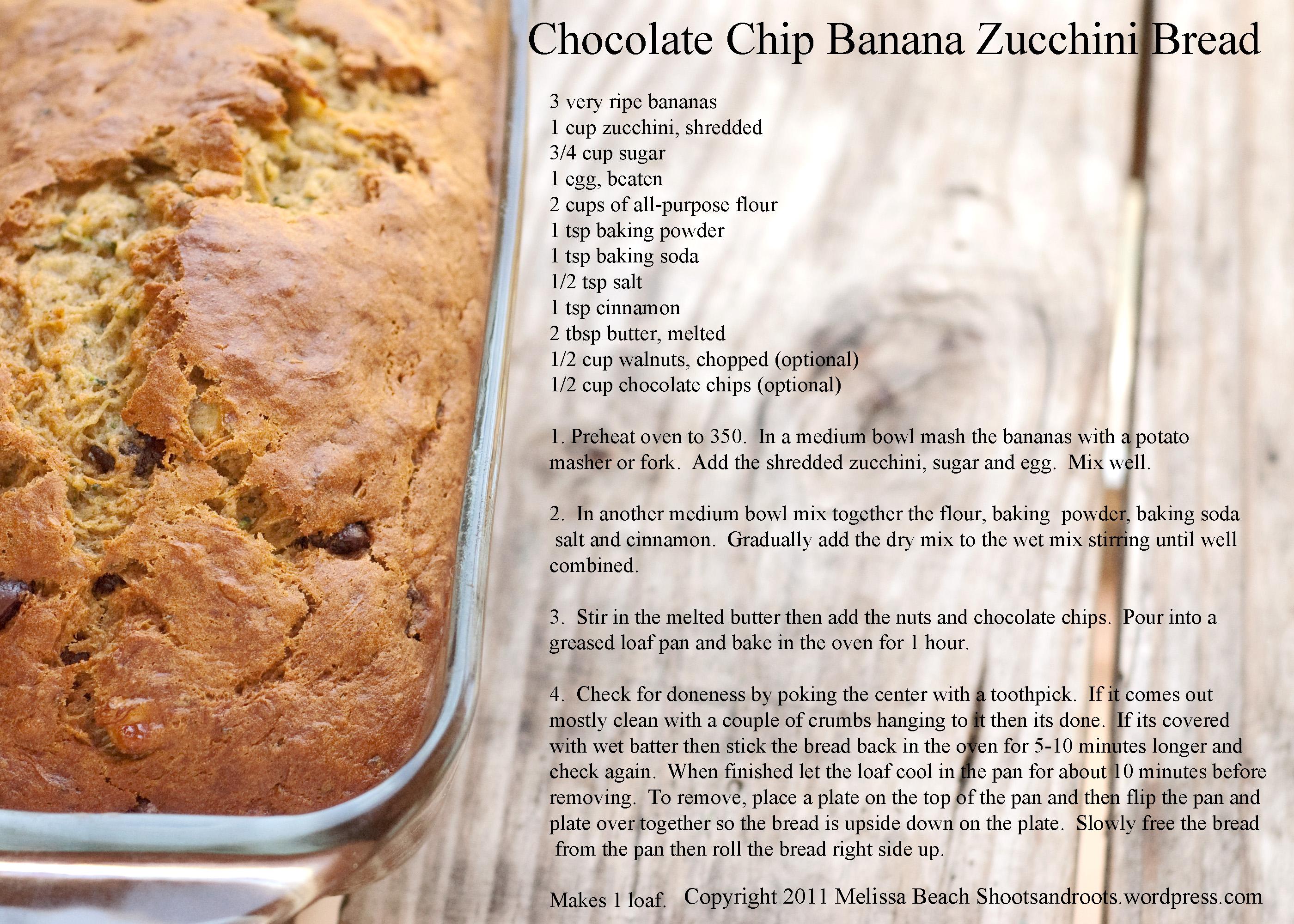 banana bread recipe card - photo #12