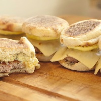 Egg and Sausage Breakfast Sandwich To-Go