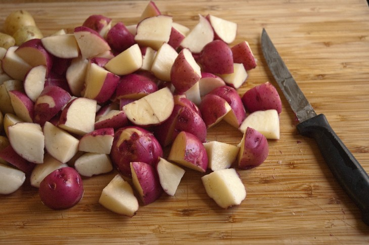 red baby potatoes